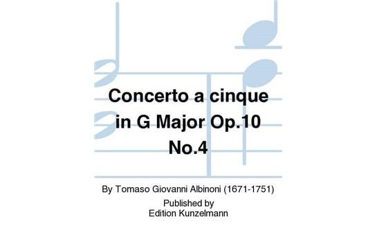 Concerto a cinque in G Major Op. 10 No. 4