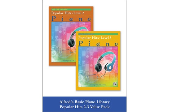 Alfred's Basic Piano Library: Popular Hits, Levels 2 & 3 (Value Pack)