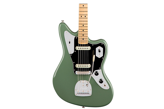 Fender Am Pro Jaguar Maple Electric Guitar (Antique Olive)