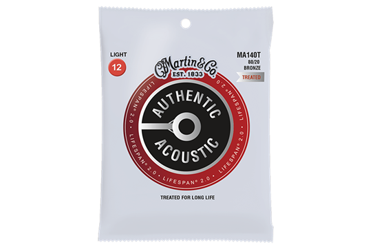 Martin Authentic Acoustic Lifespan 80/20 Extra Light 12 String Guitar Strings .010-.047