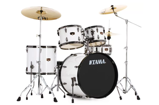 Tama Imperialstar Drum Set (Sugar White with Black Nickel Hardware)