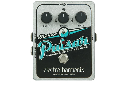 Electro Harmonix Stereo Pulsar, Variable Shape Analog Tremolo