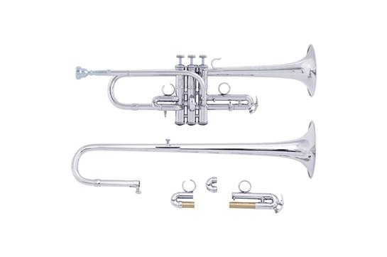 Bach ADE190 Stradivarius Artisan D / Eb Trumpet (Silver - ADE190S)