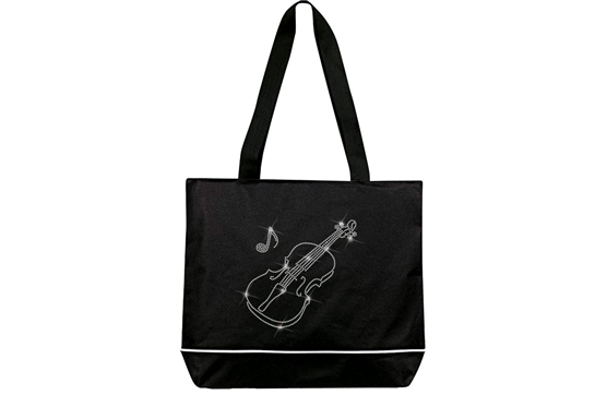 Violin Bling Extra Large Tote Bag