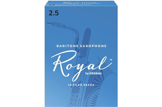 Rico Royal Baritone Saxophone Reeds Strength 2.5 (Box of 10)