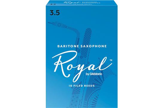 Rico Royal Baritone Saxophone Reeds Strength 3.5 (Box of 10)