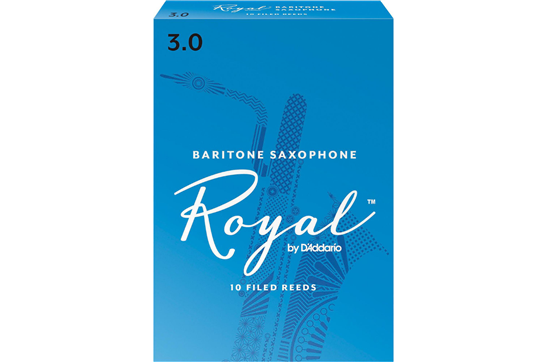 Rico Royal Baritone Saxophone Reeds Strength 3 (Box of 10)
