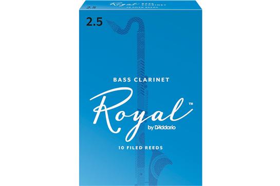Rico Royal Bass Clarinet Reeds Strength 2.5 (Box of 10)
