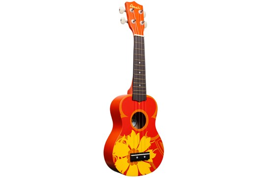 Amahi DDUK5 Soprano Ukulele (Orange Flower)