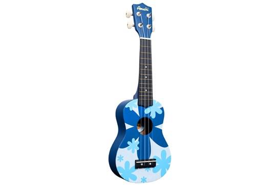 Amahi DDUK8 Soprano Ukulele (Blue Flower)