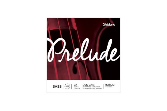 D'Addario Prelude J610 3/4 size Bass String Set