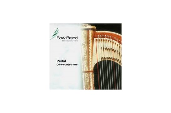 Bow 6th Octave F Bass Wire Harp String - Black