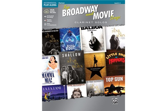 Top Broadway and Movie Songs for Clarinet