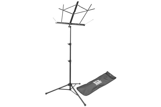 On-Stage Tripod Folding Music Stand - Black