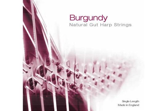 Burgundy 3rd Octave C Gut Harp String - Red