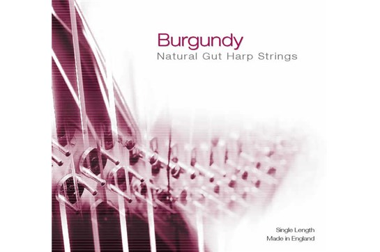 Burgundy 4th Octave C Gut Harp String - Red