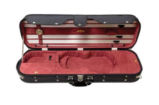 Howard Core CC5251BKR 4/4 Violin Case (Red Interior)