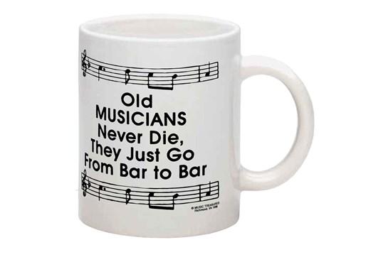 Old Musicians Ceramic Music Coffee Mug