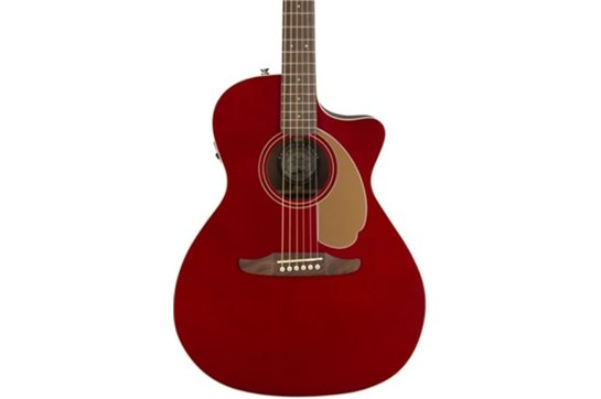 Fender Newporter Player Acoustic - Candy Apple Red
