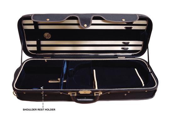 Angel Strings CP02M Viola Case - Black/Blue