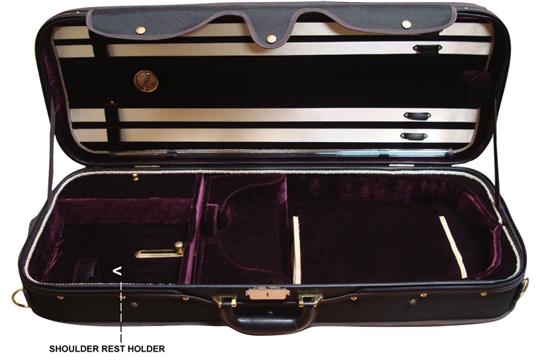 Angel Strings CP02M Viola Case - Black/Burgundy