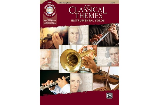 Easy Classical Themes Instrumental Solos Book and CD (Alto Sax)
