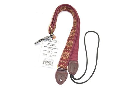 Souldier Jaipur Burgundy/Gold Mandolin Strap