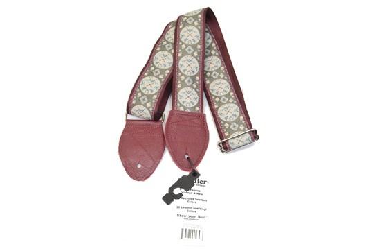 Souldier Medallion Maroon Guitar Strap
