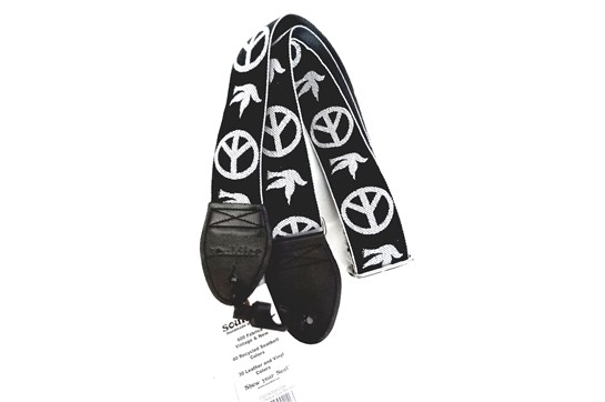 Souldier Peace Dove Guitar Strap (Black/White)