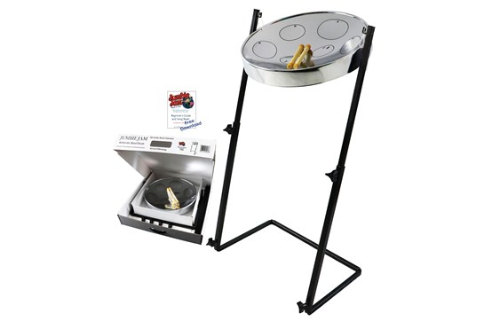 Panyard Jumbie Jam Steel Drum w/Z Stand (Chrome)