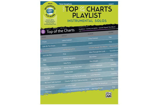 Easy Top of the Charts Playlist (Tenor Sax)