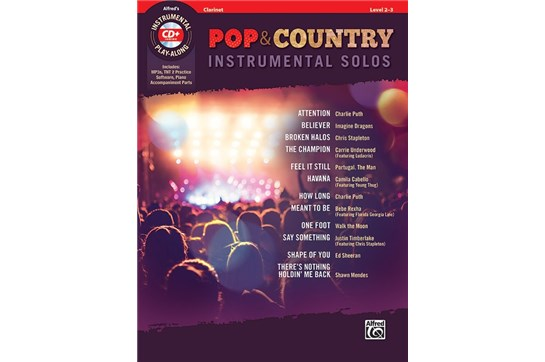 Pop & Country Instrumental Solos (Clarinet)