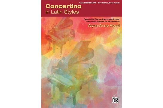 Concertino in Latin Styles- Piano Duo (2 Pianos, 4 Hands) Book (2 copies required)