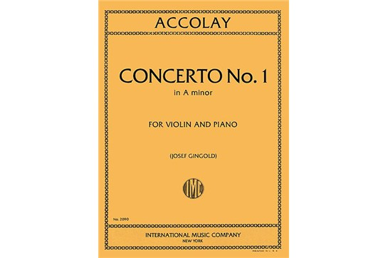 Concerto No. 1 in A Minor Violin