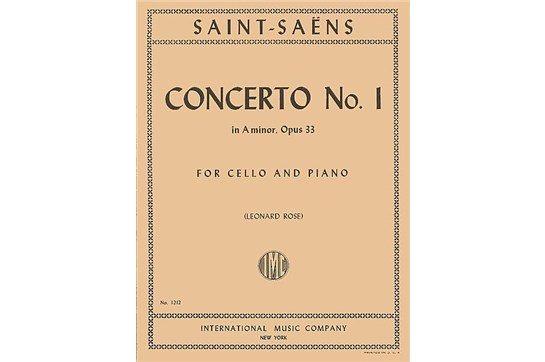 Concerto No. 1 in A minor, Opus 33 for Cello