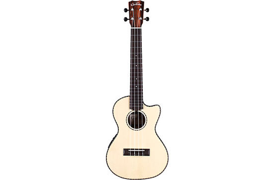 Cordoba Tenor Ukulele, Cutaway w/Electronics (Striped Ebony)