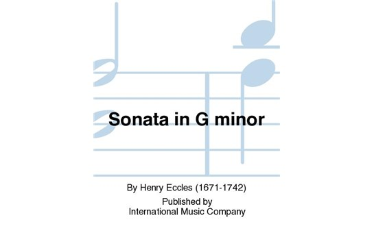 Sonata in G Minor for Violin