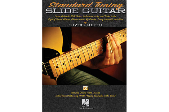 Standard Tuning Slide Guitar book w/Online Video Lessons