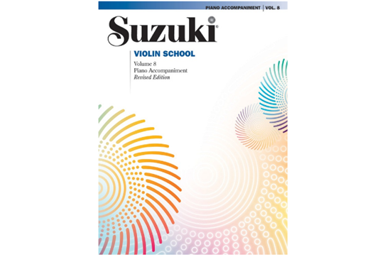 Suzuki Violin School Piano Acc., Volume 8 (Revised)