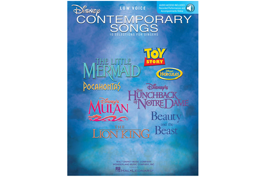 Disney Contemporary Songs (Low Voice)