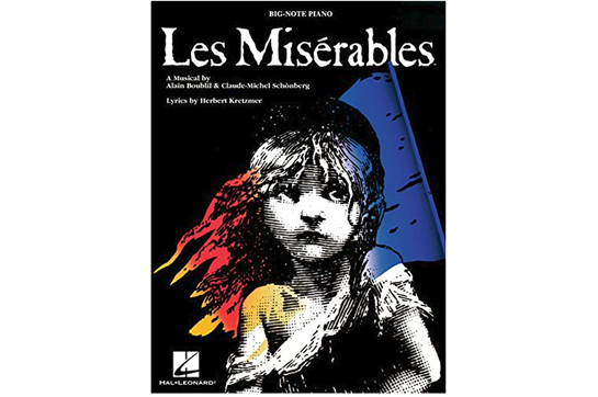Les Misérables Big Note Piano
