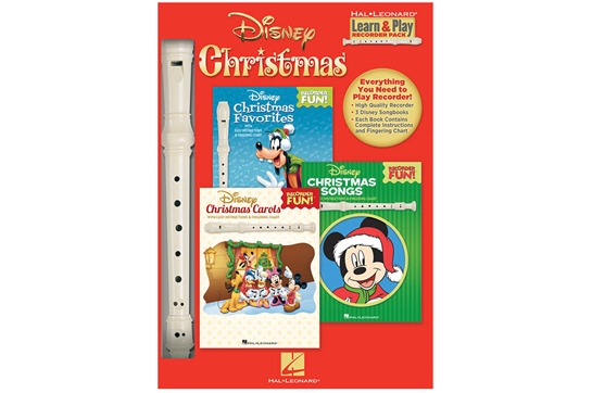 Disney Christmas Learn & Play Recorder Pack