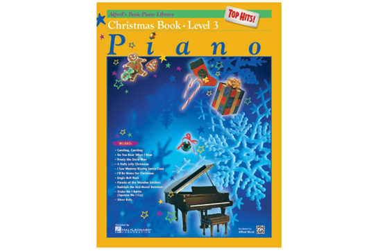 Alfred's Basic Piano Library: Top Hits! Christmas Book 3