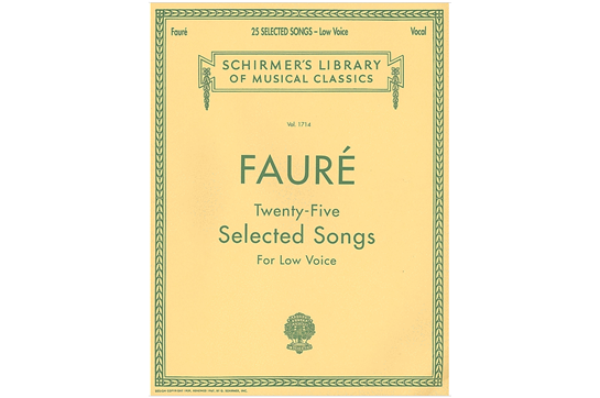 Fauré: 25 Selected Songs, Low Voice