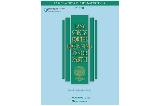 Easy Songs for the Beginning Tenor - Part II (Book & Online Audio)