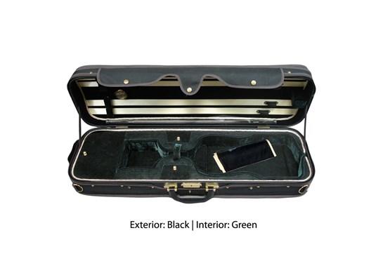 Angel Strings CP01M Violin Case - Black/Green