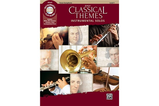 Easy Classical Themes Instrumental Solos Book and CD (Tenor Sax)