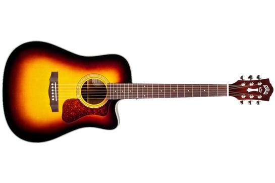 Guild D-140E Cutaway Acoustic Guitar (Sunburst)