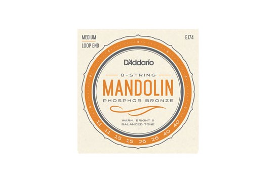 D'Addario EJ74 Medium Mandolin Strings