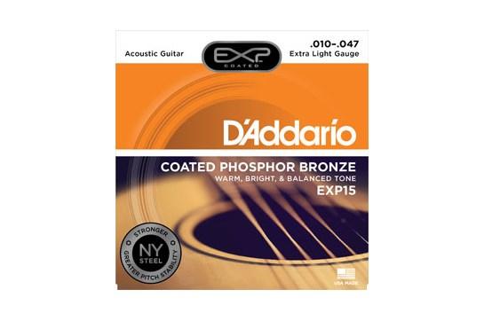 D'Addario EXP15 Phosphor Bronze Extra Light Acoustic Strings -.010-.047